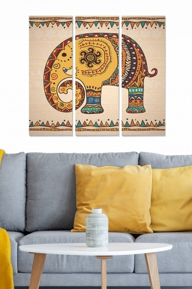 Tablou decorativ (set 3 piese) Bianca 553BNC2744 multicolor