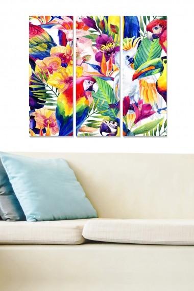 Tablou decorativ (set 3 piese) Bianca 553BNC2748 multicolor