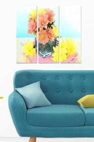 Tablou decorativ (set 3 piese) Bianca 553BNC2756 multicolor