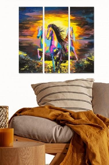Tablou decorativ (set 3 piese) Bianca 553BNC2765 multicolor