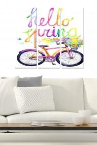 Tablou decorativ (set 3 piese) Bianca 553BNC2783 multicolor