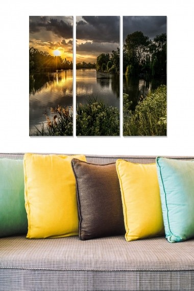 Tablou decorativ (set 3 piese) Bianca 553BNC2830 multicolor