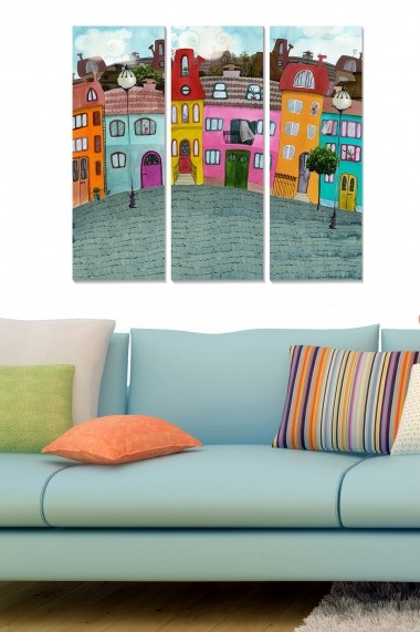 Tablou decorativ (set 3 piese) Bianca 553BNC2841 multicolor