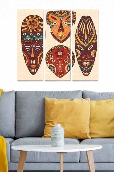 Tablou decorativ (set 3 piese) Bianca 553BNC2842 multicolor