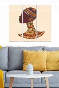 Tablou decorativ (set 3 piese) Bianca 553BNC2844 multicolor