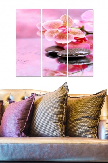 Tablou decorativ (set 3 piese) Bianca 553BNC2852 multicolor