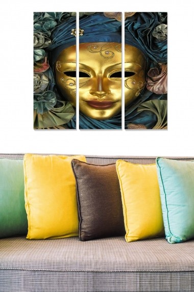 Tablou decorativ (set 3 piese) Bianca 553BNC2868 multicolor
