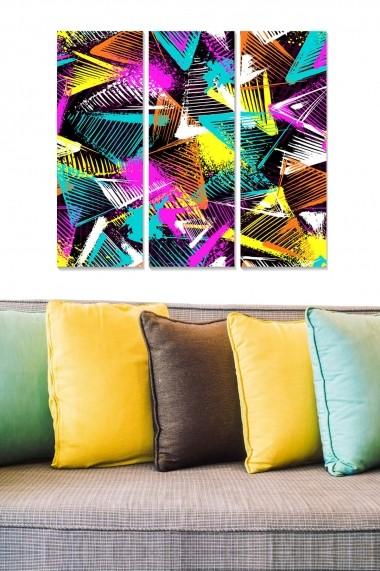 Tablou decorativ (set 3 piese) Bianca 553BNC2878 multicolor