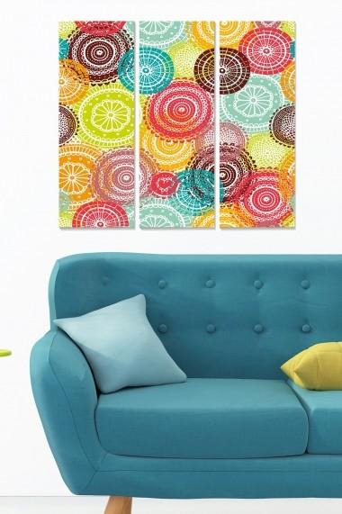 Tablou decorativ (set 3 piese) Bianca 553BNC2882 multicolor