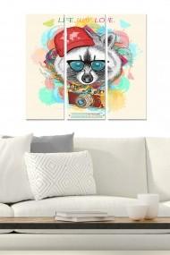 Tablou decorativ (set 3 piese) Bianca 553BNC2885 multicolor
