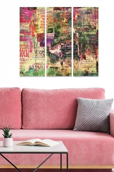 Tablou decorativ (set 3 piese) Bianca 553BNC2886 multicolor