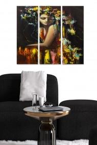 Tablou decorativ (set 3 piese) Bianca 553BNC2916 multicolor