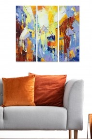 Tablou decorativ (set 3 piese) Bianca 553BNC2921 multicolor