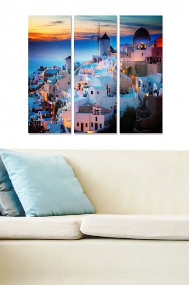 Tablou decorativ (set 3 piese) Bianca 553BNC2929 multicolor