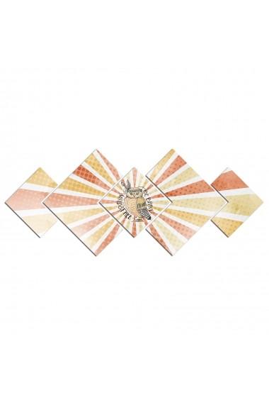 Tablou din MDF(5 bucati) Astro 778AST1970 Multicolor