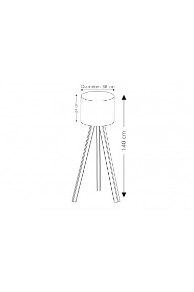 Lampadar cu picior Insignio 780SGN2430 Gri