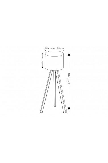 Lampadar cu picior Insignio 780SGN2434 Negru
