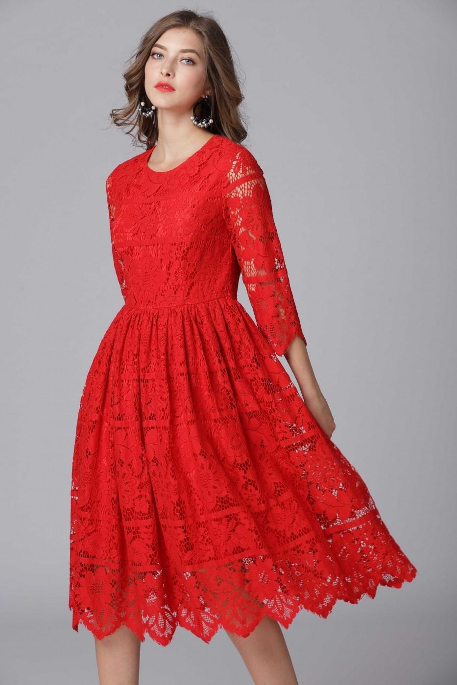 3df00edc83 Taoyizhuai Estélyi ruha ATL-14-14098_Red Piros - FashionUP!