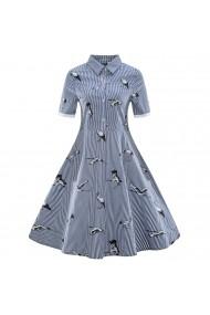 Mike is Hétköznapi ruha ATL-P105_Blue_els print