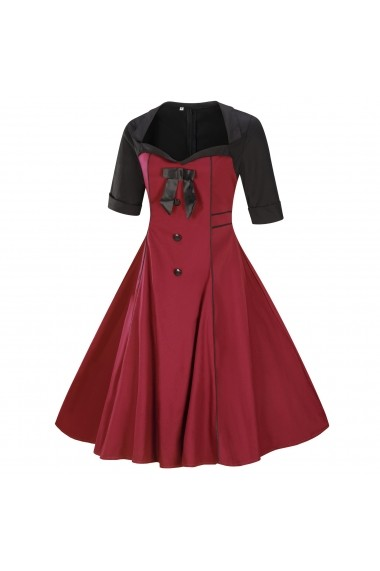 Rochie Mike is P66 Bordo - els