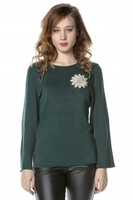 Bluza B116-CRISSTALUS Verde