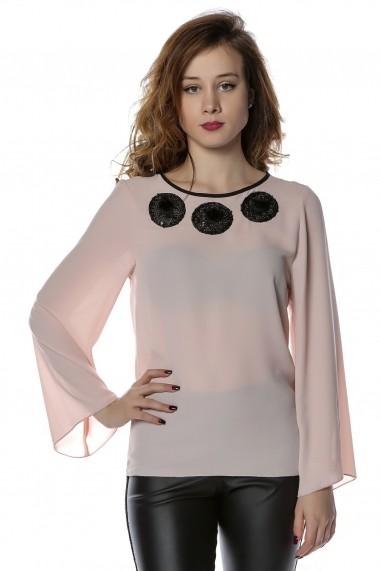 Bluza B118-CRISSTALUS roz