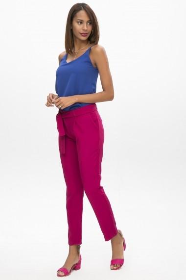 Pantaloni drepti NEW LAVIVA 650-2093 147 Mov