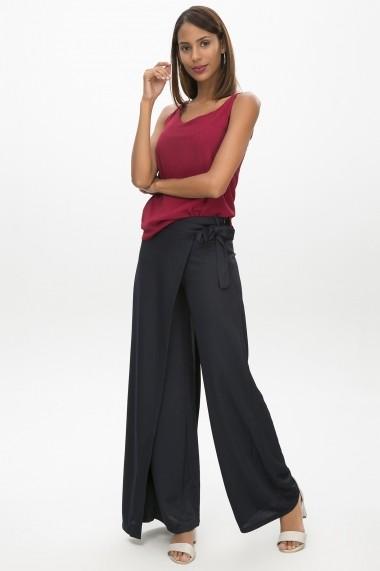 -75% Pantaloni largi NEW LAVIVA 650-2319 004 Bleumarin 552d041ccf