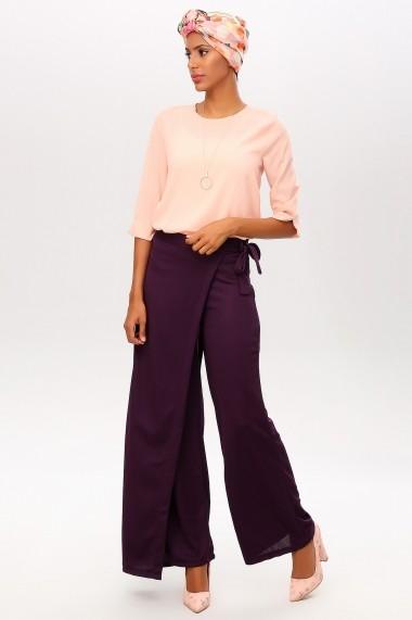 Pantaloni largi NEW LAVIVA 650-2319 035 Mov