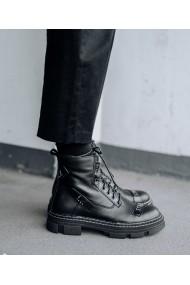 Ghete Bigiottos Shoes din piele naturala neagra Bellucci