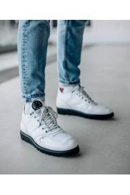 Pantofi sport Bigiottos Shoes din piele naturala alba Loma White
