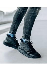 Ghete fashion Bigiottos Shoes din piele naturala neagra