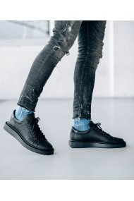 Pantofi sport Bigiottos Shoes din piele naturala neagra Frankie