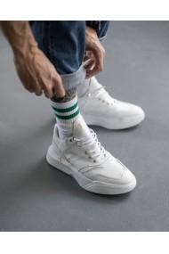 Pantofi sport din piele naturala alba Top Gun