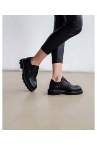 Pantofi dama piele naturala neagra Casual Chic