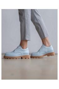 Pantofi casual albastri din piele naturala