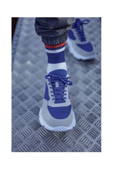 Sneakers Bigiottos din piele naturala gri