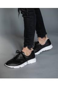 Pantofi sport din piele naturala neagra Bigiotto's Shoes