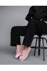 Mocasini piele naturala roz Bigiotto`s