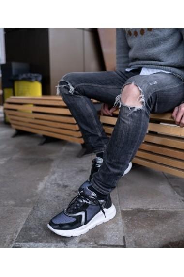 Sneakers Bigiottos din piele naturala neagra