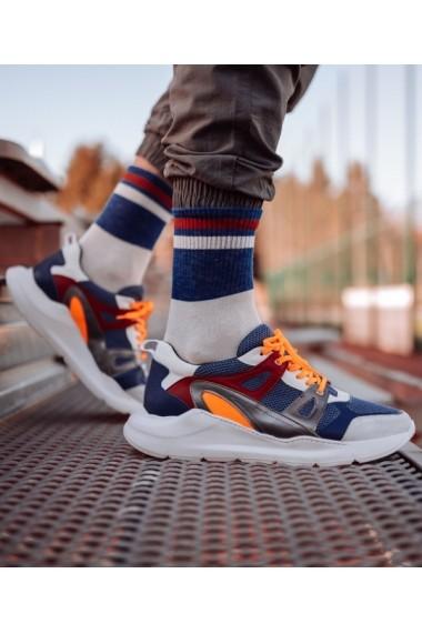 Sneakers Bigiottos din piele naturala albastri