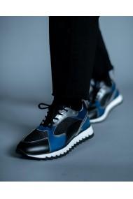 Pantofi sport barbati Bigiotto's piele naturala albastra si neagra