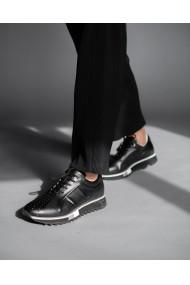 Pantofi sport din piele naturala neagra Bigiotto's