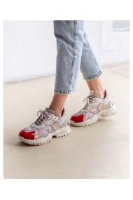 Sneakers fashion din piele naturala bej bej