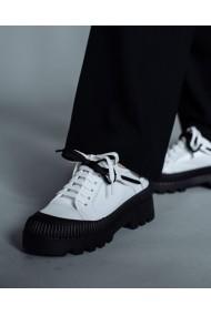 Pantofi casual albi cu talpa neagra Bigiotto`s Shoes