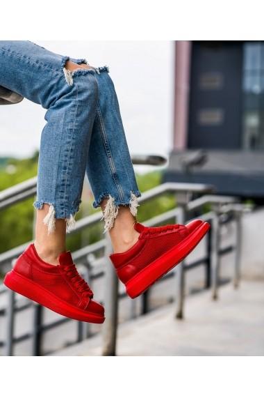 Sneakers Bigiottos Iconic din piele naturala Rosu