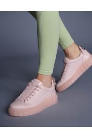 Pantofi dama din piele naturala roz Bigiotto`s