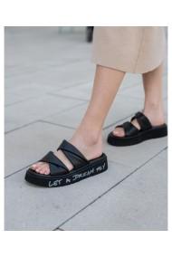 Papuci Bigiotto Shoes piele naturala negri