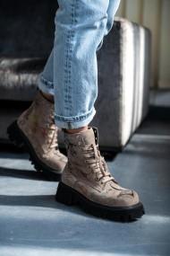 Ghete Bigiottos Shoes din piele intoarsa Bej