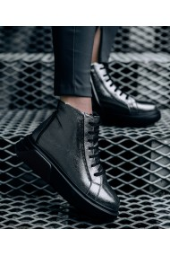 Ghete imblanite Bigiottos Shoes din piele naturala Beluga